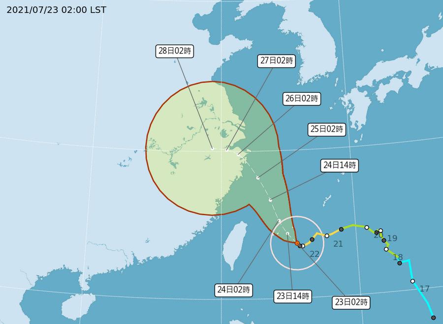 烟花接近臺灣 須嚴防豪雨 避免至海邊山區活動