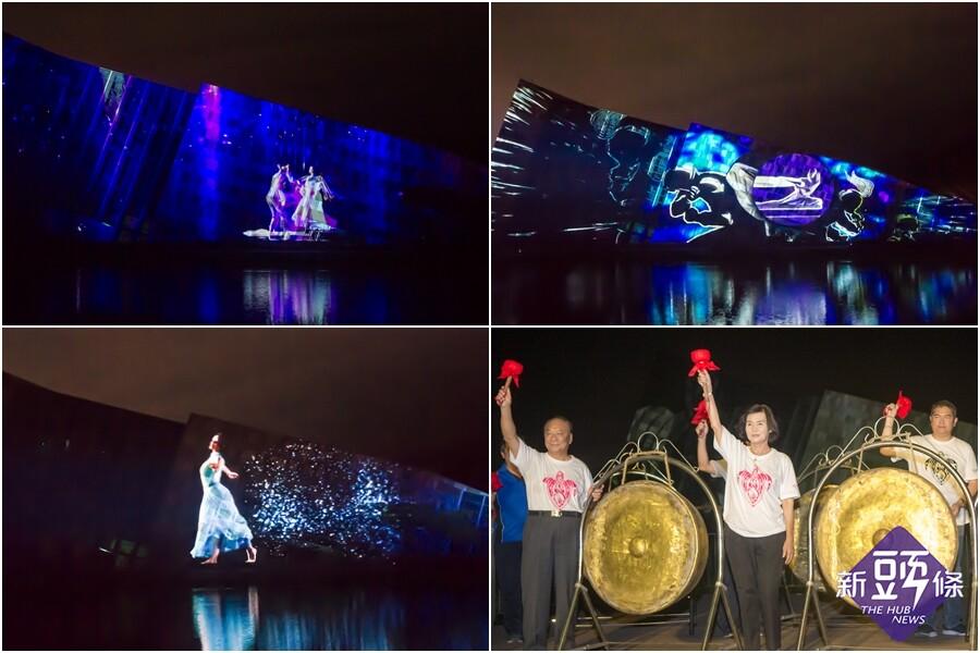噶瑪蘭公主文創光雕展演 即日起夜夜秀好戲