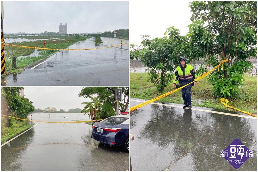 宜蘭大雨不斷 五十二甲溼地水淹路面