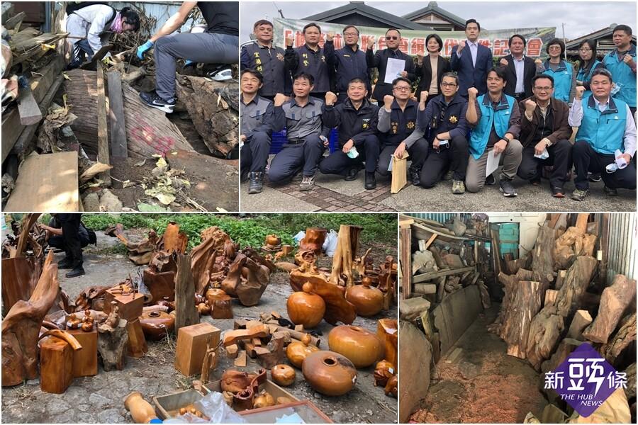 檢警林聯合偵破盜伐案 起獲市值逾500萬藝品與原木