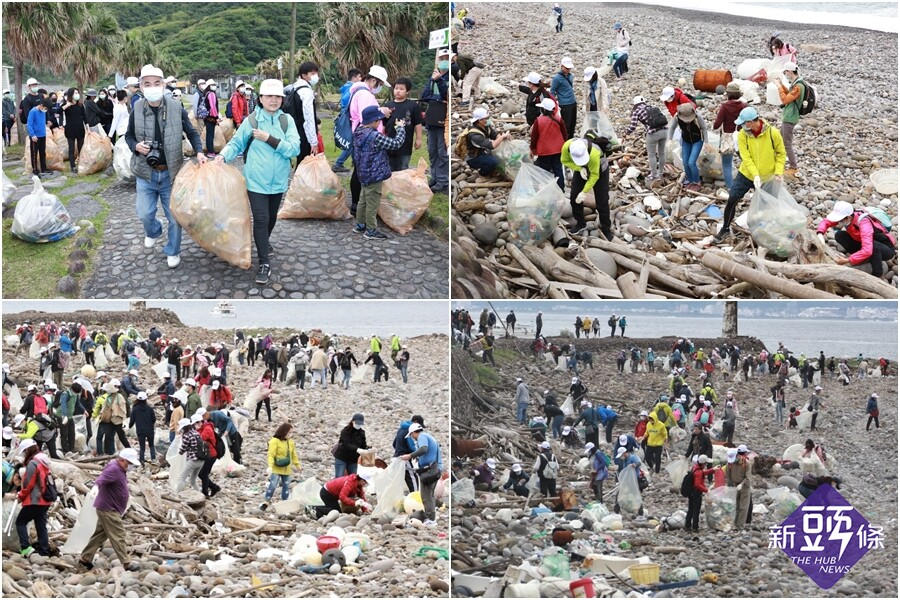 迎接登島觀光 300人龜山島淨灘 人為海漂垃圾驚人